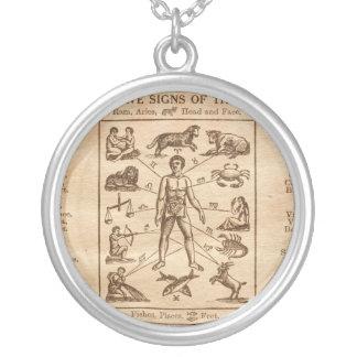 Muestras del vintage 12 del zodiaco collar