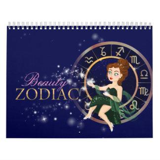 Muestras del zodiaco de la belleza más carta del calendarios