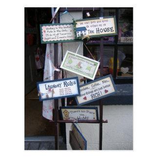 Muestras divertidas postales