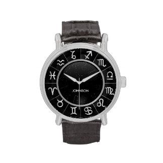 Muestras elegantes de la astrología - 12 símbolos  relojes de pulsera