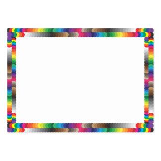 muestras espectrales del marco y del color tarjetas de visita grandes