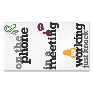 Muestras/etiquetas magnéticas de la puerta de la tarjetas de visita magnéticas (paquete de 25)