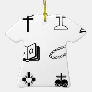 Muestras y símbolos religiosos cristianos adorno para reyes