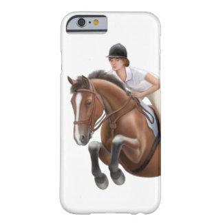 Muestre a caballo de salto el caso ecuestre del funda barely there iPhone 6