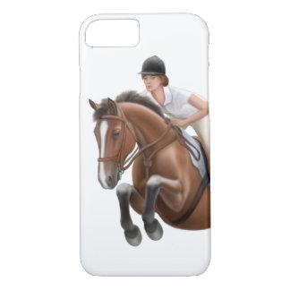 Muestre a caballo de salto el caso ecuestre del funda iPhone 7