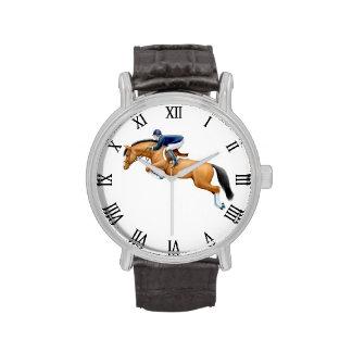 Muestre a caballo de salto el reloj ecuestre