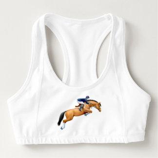 Muestre a caballo de salto el sujetador de los bra deportivo