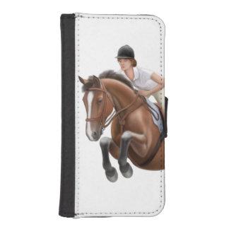 Muestre a caballo del puente el caso ecuestre del billetera para iPhone 5