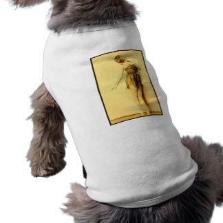 Muestre a chica el bailarín francés subido de tono ropa de mascota