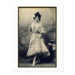 Muestre a chica el francés subido de tono tarjeta postal