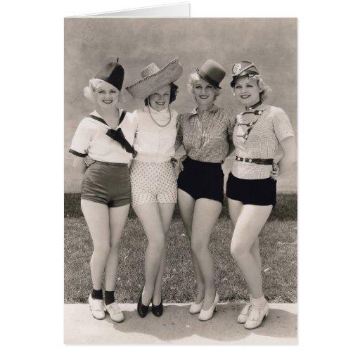 Muestre a chicas la tarjeta de felicitación - 1706