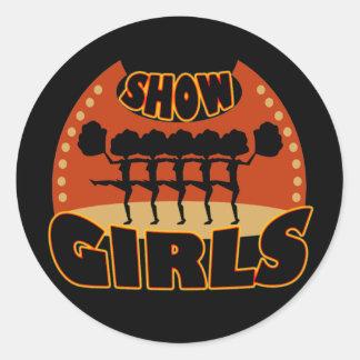 Muestre a chicas los pegatinas pegatina redonda