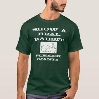Muestre a conejo real la camiseta para hombre