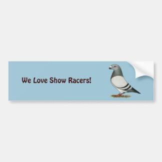 Muestre a corredor la paloma azul de la barra pegatina para auto
