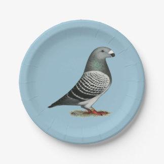 Muestre a corredor la paloma azul del inspector plato de papel de 7 pulgadas