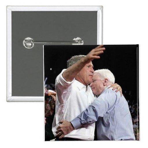 Muestre a McCain un cierto amor -- Botón Pin Cuadrado