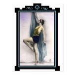 Muestre al bailarín del chica tarjeta postal