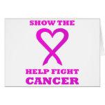 Muestre al cáncer 01PK de la lucha de la ayuda del Felicitación