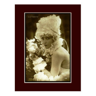 Muestre al chica 1920 tarjeta postal