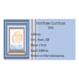 Muestre apagado el arte o la foto de su niño tarjetas de visita
