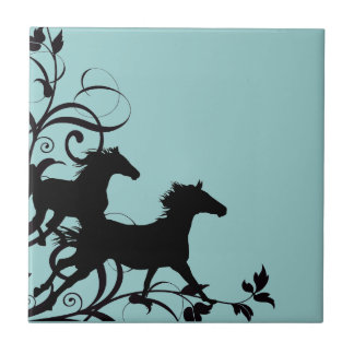 Muestre el caballo azulejo ceramica