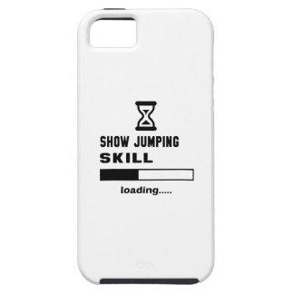 Muestre el cargamento de salto de la habilidad funda para iPhone SE/5/5s