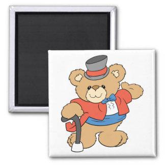 muestre el diseño del oso de peluche del ejecutant imán cuadrado