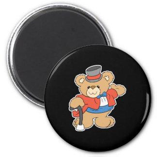muestre el diseño del oso de peluche del ejecutant imán redondo 5 cm