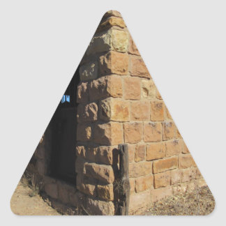 Muestre el punto bajo, Az. Cárcel Pegatina Triangular