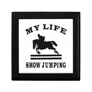 Muestre el salto de mi vida caja de joyas