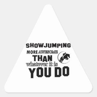 muestre el salto más impresionante pegatina triangular