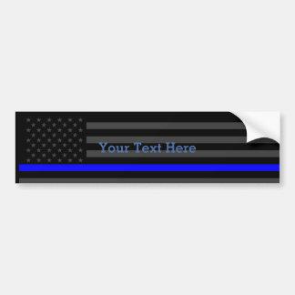 Muestre la bandera negra personalizada Blue Line Pegatina Para Auto