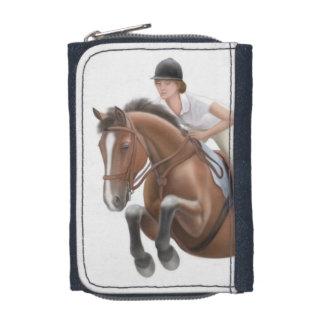 Muestre la cartera de salto del Equestrian del cab