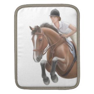 Muestre la manga de salto del carrito del caballo funda para iPads