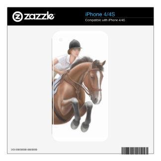 Muestre la piel de salto de Zazzle del caballo Calcomanía Para El iPhone 4