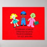 Muestre que lo hace la amabilidad en todos usted poster
