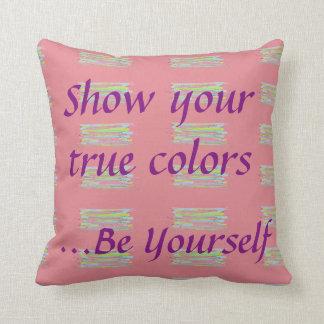 Muestre su almohada de los colores verdaderos