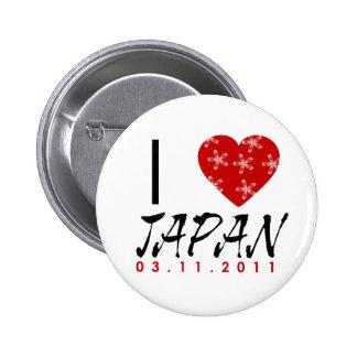 Muestre su amor a Japón Pins