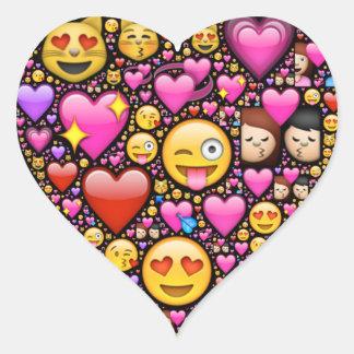 Muestre su amor y afecto con Emoji-arte Pegatina De Corazón Personalizadas