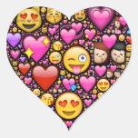 Muestre su amor y afecto con Emoji-arte Pegatina En Forma De Corazón