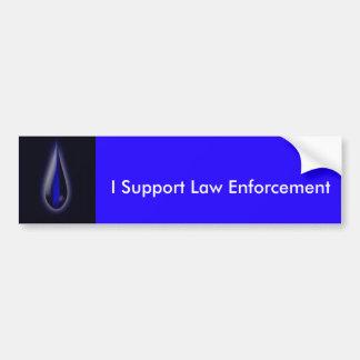 Muestre su ayuda para la aplicación de ley pegatina para auto