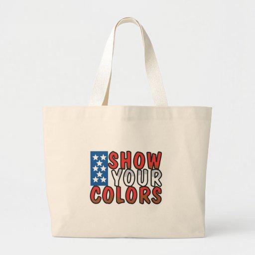 Muestre su diseño de los E.E.U.U. de los colores Bolsa Tela Grande