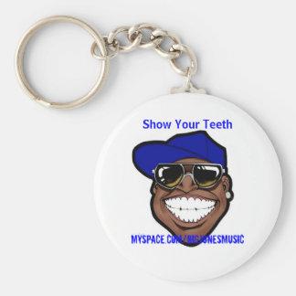 Muestre su llavero de los dientes