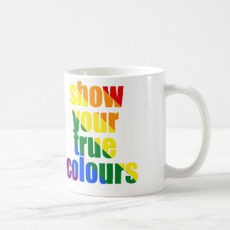 Muestre su taza de los colores verdaderos