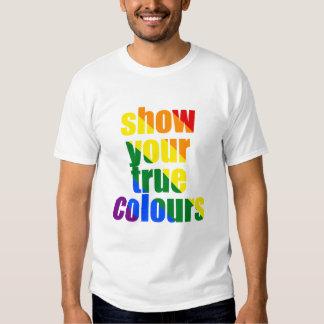 Muestre sus colores verdaderos polera