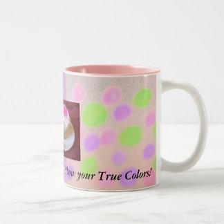 Muestre sus colores verdaderos taza de dos tonos