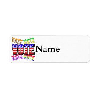 Muestre sus colores verdaderos - voto etiqueta de remite