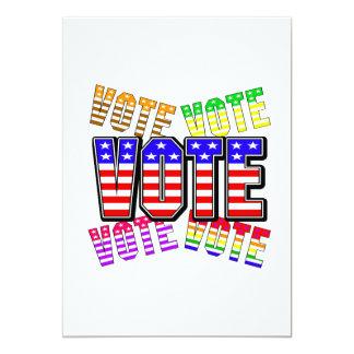 """Muestre sus colores verdaderos - voto invitación 5"""" x 7"""""""