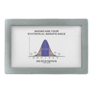 Muestre sus estadísticas estadísticas de la signif hebilla cinturón rectangular