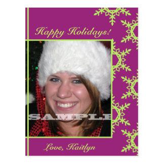 muestree el navidad 1, copos de nieve de una tarjetas postales